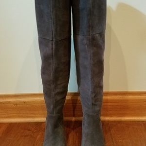 Lucky Brand Over Knee Suede Boots New